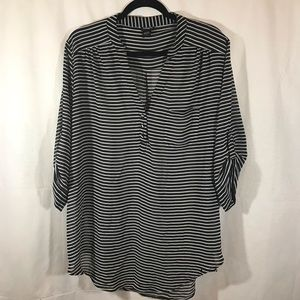 Torrid striped blouse Black and white size 2